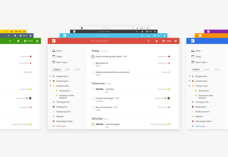 Todoist App Rebranding and New Web Interfaces #archives