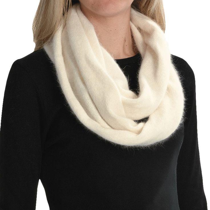 Bufanda Columbia Color: Blanco invierno y Gris