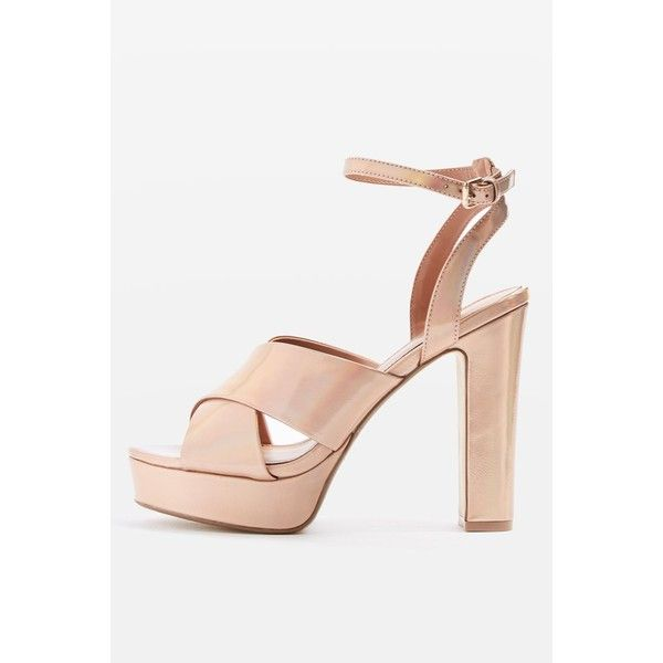 Topshop Madrid Cross-Strap Ballet Shoes (€36) ❤ liked on Polyvore featuring shoes, flats, rose gold, ballerina pumps, ballet flat shoes, ballet shoes flats, skimmer shoes and ballet shoes
