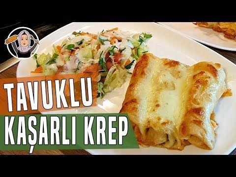 Tavuklu Kaşarlı Krep Sarma Tarifi   Hatice Mazı ile Yemek Tarifleri - YouTube