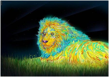 При создании своих ярких, красочных картин 27-летний художник использует широкий спектр инструментов, начиная с обычных карандашей, маркеров и баллончиков и заканчивая планшетами для рисования и различным программным обеспечением для создания и обработки изображения.