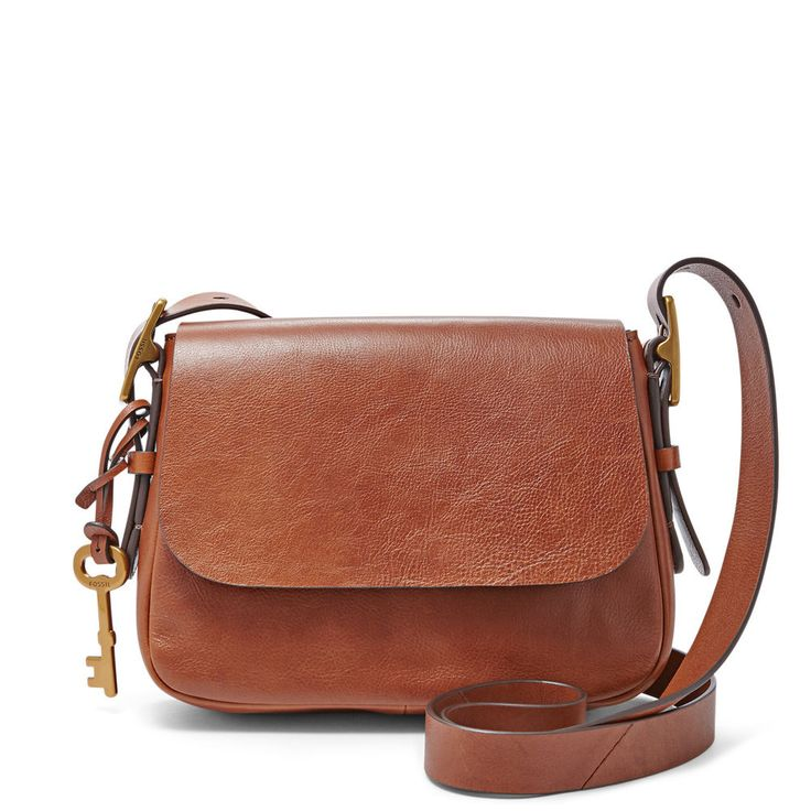 New Fossil Harper Small Saddle Crossbody – Brown (NWT) ZB6759200