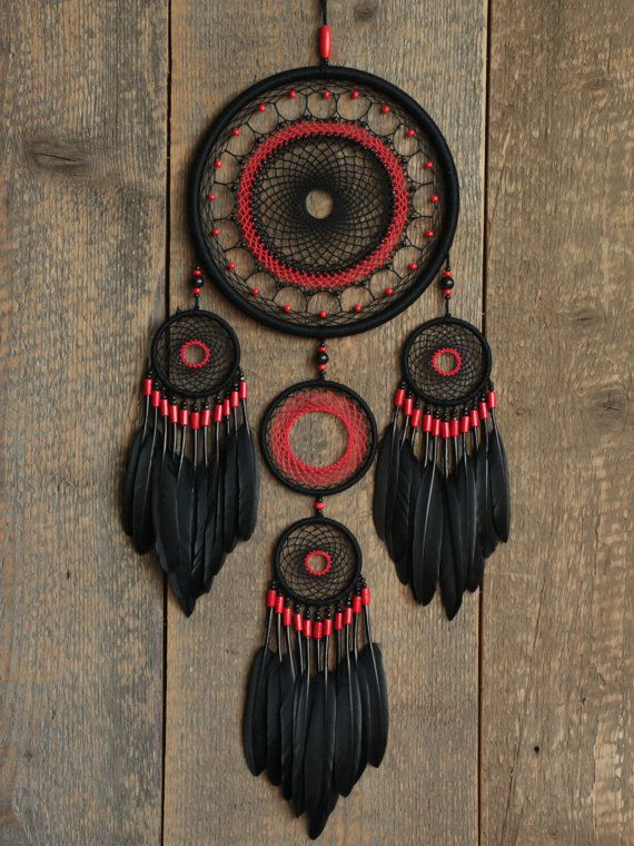 Black dream catcher / Dream catcher / Gypsy dreamcatcher / Dream catcher gift