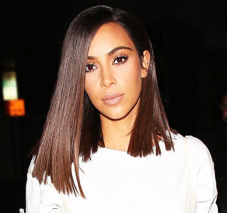 Kim Kardashian | blunt shoulder length cut                                      …