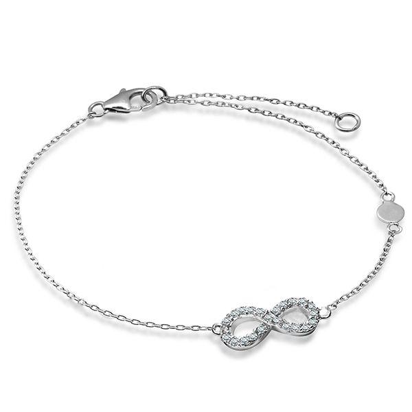 Srebrna bransoletka nieskończoność infinity - Biżuteria srebrna dla każdego tania w sklepie internetowym Silvea #biżuteriasrebrna #bransoletkasrebrna #srebrne #biżuteria