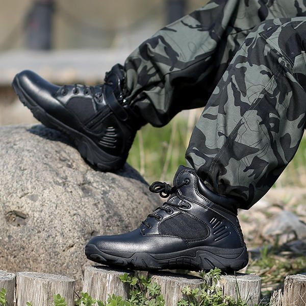 Men Comfortable Wear Resistant Outsole Warm High Top Boots - US$68.91