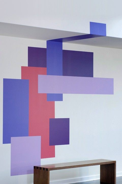 Color Block Parallel Decal - want it in the greenish for the playroom.
