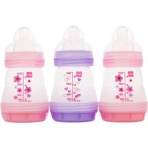 MAM - Girls' 5-oz. Bottle Gift Set, 3-Pack, BPA Free  Walmart