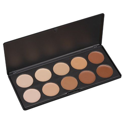 Coastal Scents Professional Camouflage Concealer Palette: This palette comes with 10 cream concealers that offers terrific coverage. It provides full opaque coverage that is easy to apply with a concealer brush and is very easy to blend in order to create the shade that you need.