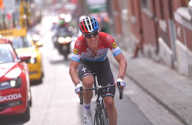 Bob Jungels (Quick-Step Floors) attacks to win Liege