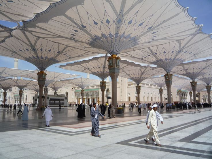 Umbrellas for the piazza of the prophet s holy mosque in for Architecture upbrella