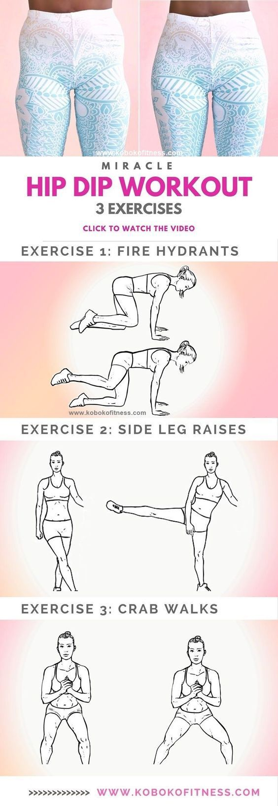 Learn the 10 Minute Wider Hips Workout to Fix Hip Dips-The best hip dip workout exercises with full workout video that is easy to follow. Add this to your butt workout for wider hips and an hour glass figure - Tap the pin if you love super heroes too! Cau