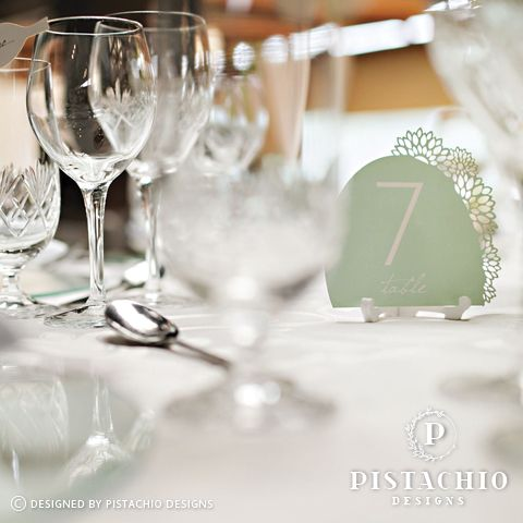 Wedding Table number floral laser by www.pistachiodesigns.co.za