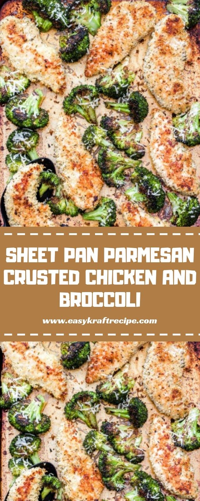 SHEET PAN PARMESAN CRUSTED CHICKEN AND BROCCOLI