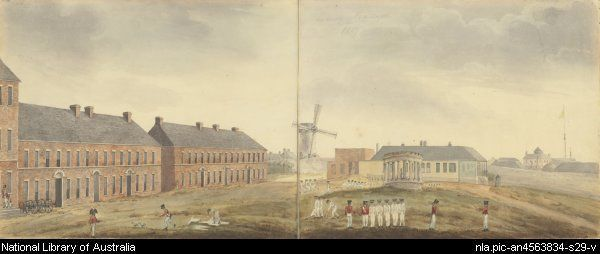 Sydney Barracks, New South Wales, 1817