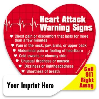 Heart Attack Warning Signs Magnet  Item # FM-214  my cardio had these made up and i Have on my fridge
