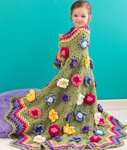 Flower Garden Throw: