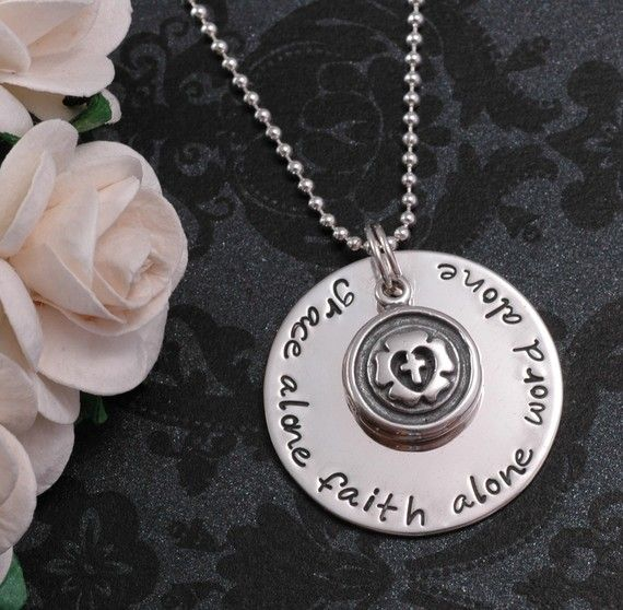 I must buy this!  I'm in love.  No words are more true.  Lutheran love. Grace Alone Faith Alone Word Alone  hand by divinestampings