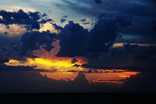 Sunset in Tangalooma, Queensland, Australia