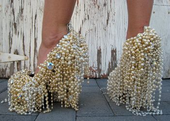 Gasoline Glamour's 27DS - LET THEM EAT CAKE shoes from their Pearls And Lace Collection