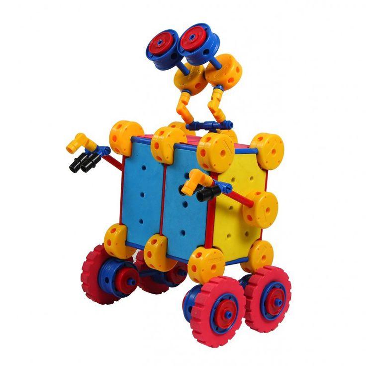#Klocki #Thinkertoy #WALL-E 113 el. Te zestawy kreatywnego myślenia dają nieskończenie wiele możliwości i pobudzają wyobraźnię wszystkich dzieci. Łącz elementy, realizuj własne pomysły :)