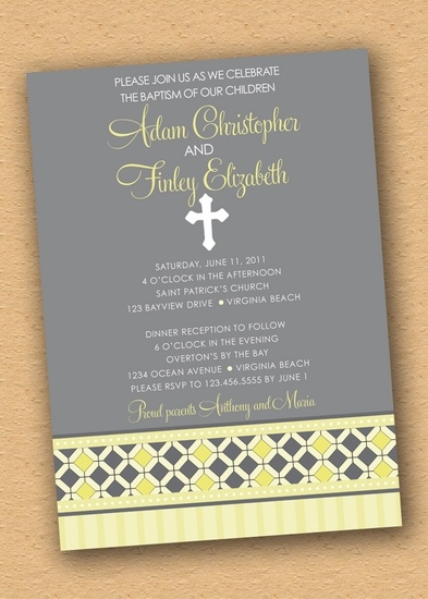30 best Liam and Ellau0027s baptism images on Pinterest Baptism ideas - sample baptismal invitation for twins