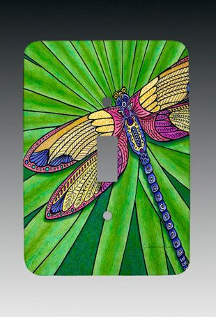 Dragonfly SINGLE Switchplate