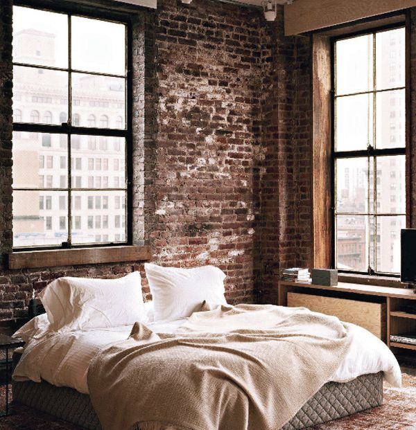 57 spectacular interiors with exposed brick walls - Exposed Brick Wall Bedroom Ideas