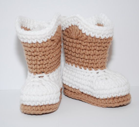 Crochet cowboy boots booties shoes as shown by BitofWhimsyCrochet, $20.00