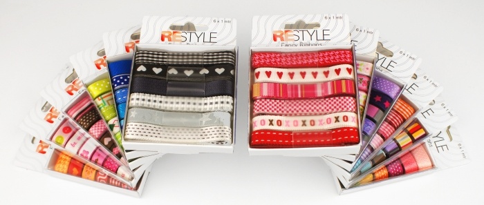 Kleurrijke Lintboxjes - Fancy Ribbons,  Colourful Ribbonboxes
