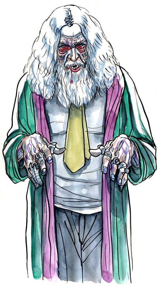 Alan Moore. Portrets as Living Deads from Frederik Peeters