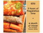 How to Make a Month's Worth of Dinners in Just 3Hours!