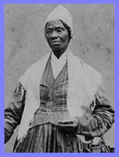 "Sojourner Truth - abolitionist and advocate of woman suffrage. Famous for her speech, ""Ain't I a Woman."""