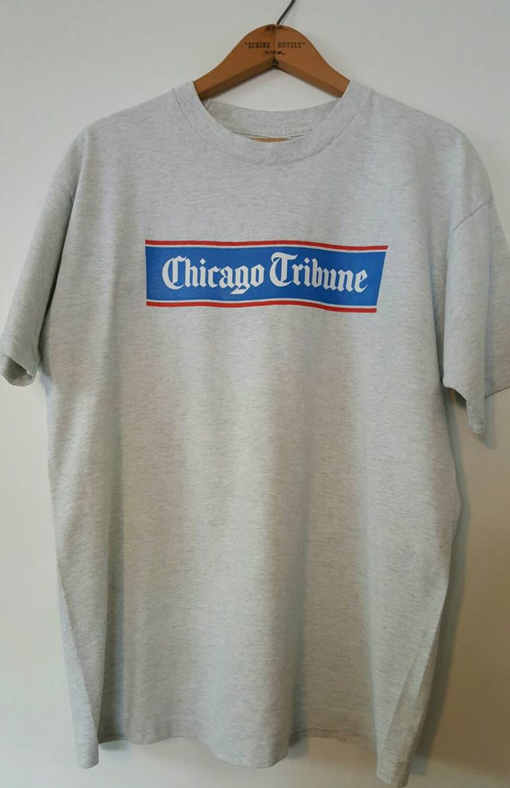 Chicago Shirt, Chicago Tribune Newspaper T-shirt, Vintage Newpaper Shirt by ResouledGypsy on Etsy