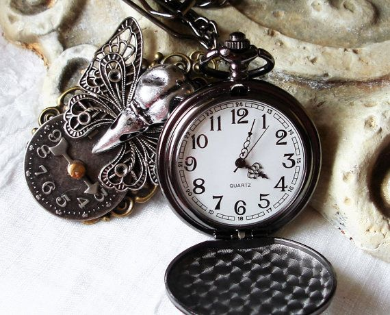 Mens Pocket Watch Steampunk Pocket Watch by BlackStoneFoundry