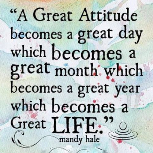 Attitude is everything…leave stinking thinking over there and let's focus on positives so we can reap the benefits. #positivethinking #newyear #attitude