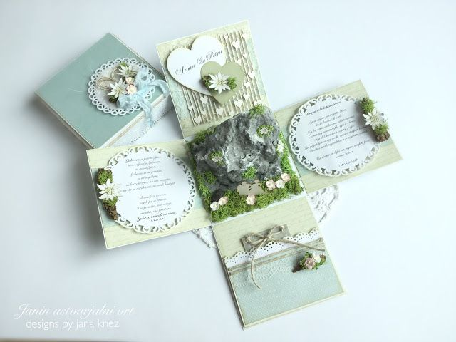 Exploding box for Wedding with beautiful Edelweiss on the mountain
