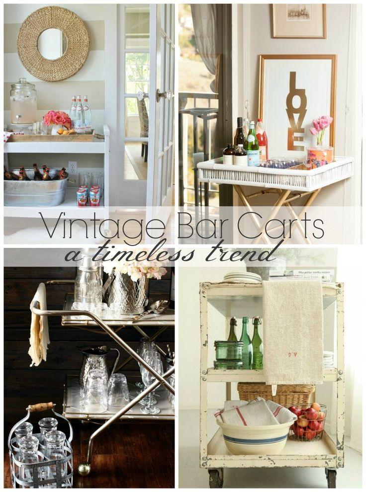 68 best Home: Vignette - Bar Carts images on Pinterest   Bar cart ...