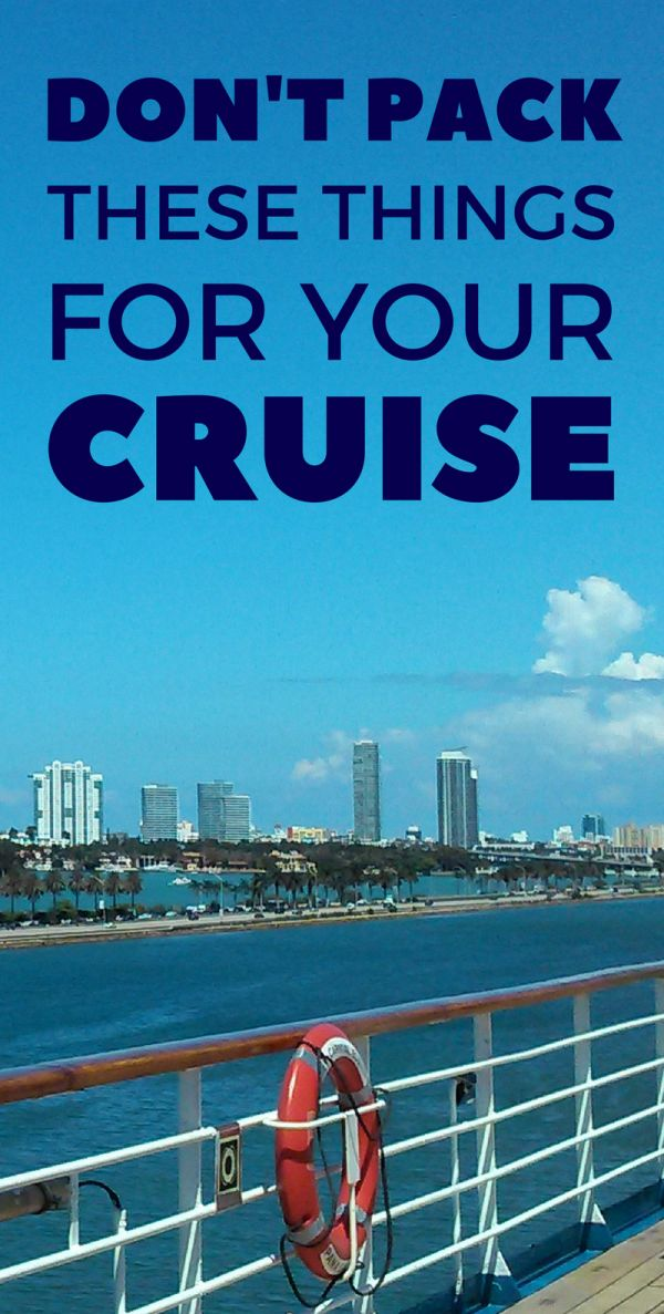 When packing for a cruise vacation make sure you don't pack anything that's not allowed on a cruise ship! This includes a list of policies for popular cruise lines which makes a good reference if you're traveling for your first time cruise. You don't want to get upset on embarkation day when security takes away a prohibited item you packed in the name of safety at sea!