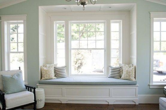 ? upper storage above the window seat reminds me of Thomas Jefferson style storage -like!