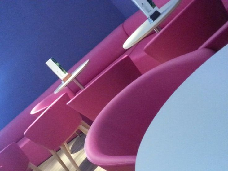 Pink chairs hotel