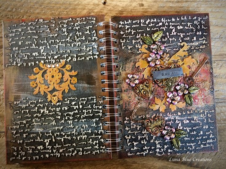Mixed Media Personalized Journal with Polymer Clay – Luna Blue Gifts   Handmade Polymer Clays