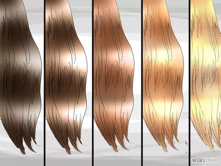 Clareando cabelos escuros