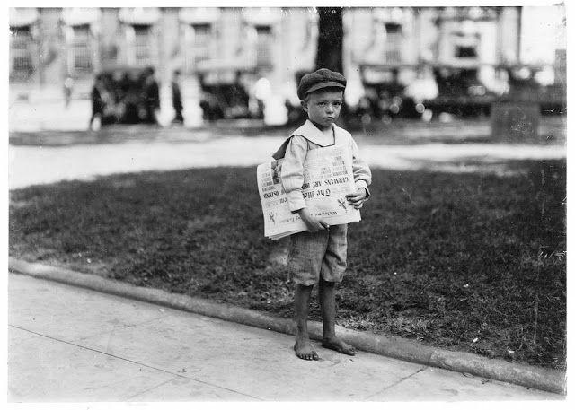 Επτάχρονος εφημεριδοπώλης στην Αλαμπάμα (1914)