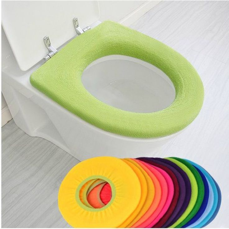 Winter Toilet Seat Warmer Thicken Carpet Toilet Seat Cover Soft Comfortable Baby Potty Seat Overcoat Toilet Case Bath Mats
