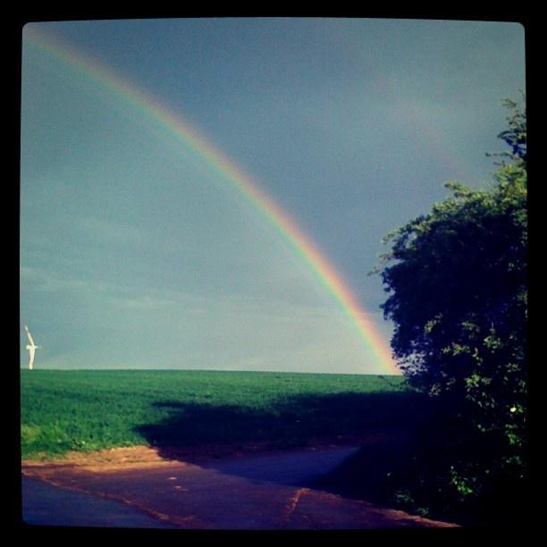 no fake rainbow :) in Bruchenbrücken