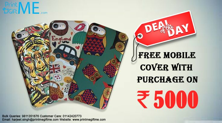 Deal Of The Day New Collection Of Iphone Cover. Contact Us for your order @01142420773 or harjeet.singh@printmegiftme.com