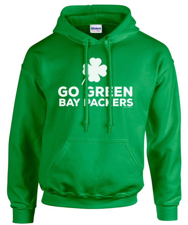 Perhaps a little luck o' the Irish is all our team needs! Show you care, wear this hoodie. GO PACK GO! Green Bay Packers!