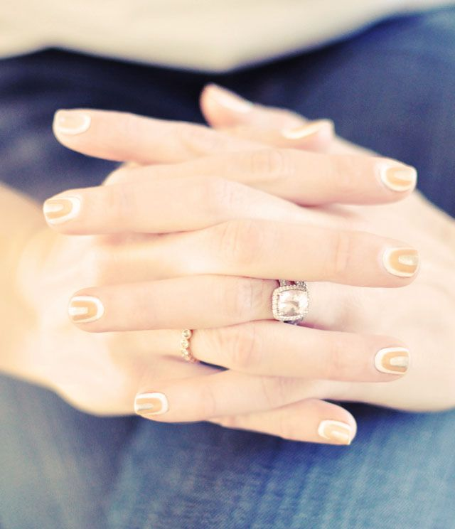 Pale Nails for Spring 2013... DIY Neutral Nail Art Manicure