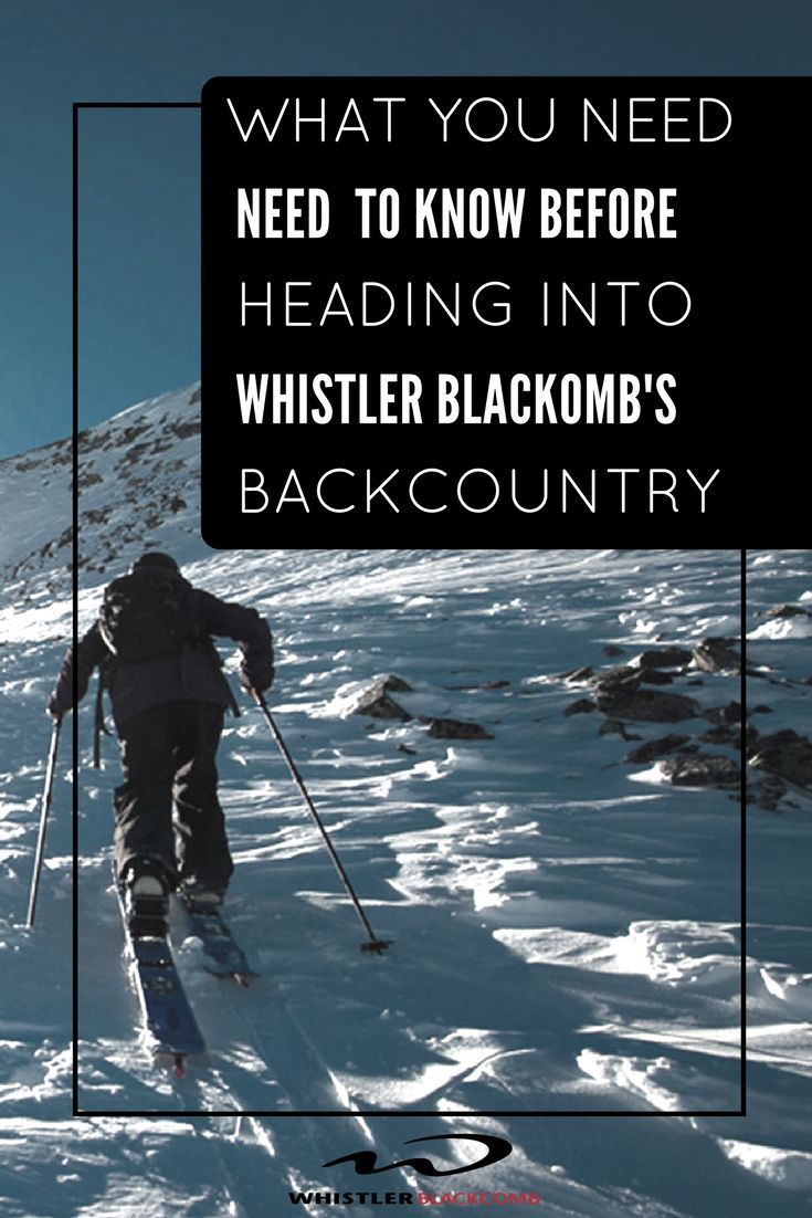 The coastal mountains provide endless pristine slopes. Be prepared when heading into Whistler Blackcomb's backcountry. Click on the image to learn more about what you should know before exploring the backcountry.